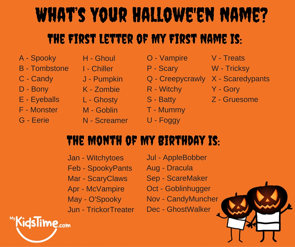 whats your halloween name