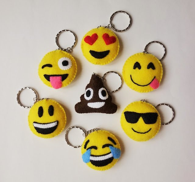 emoji keyrings sewing project