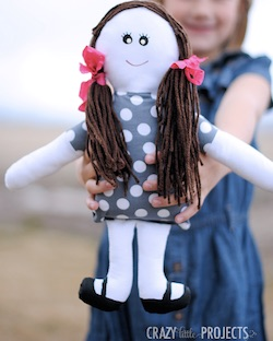Cloth Doll Pattern from Crazy little projects