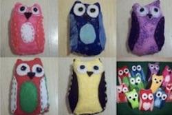 Hand Sewn Felt Owls