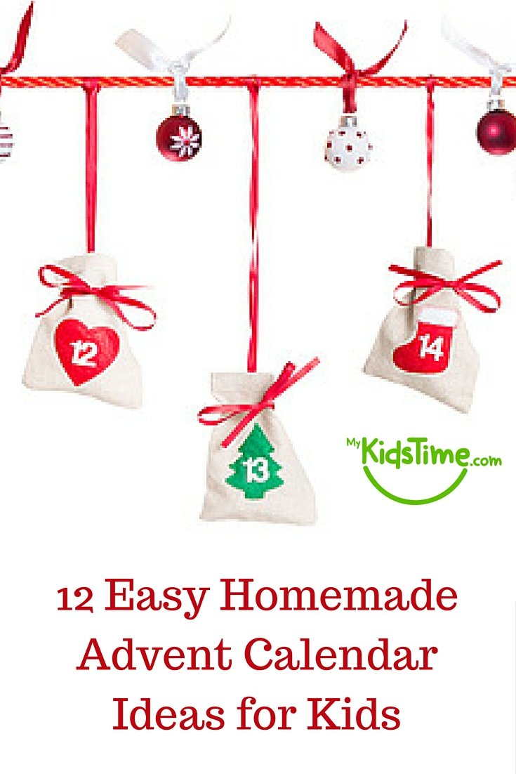 Homemade Calendar Ideas : Easy homemade advent calendar ideas for kids