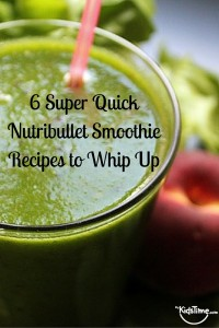 nutribullet smoothie recipes