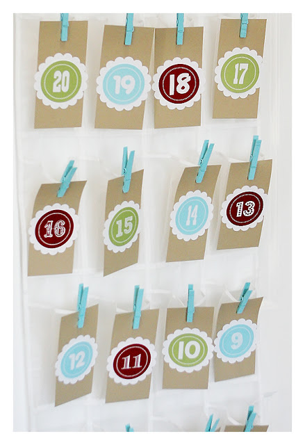 Shoe organiser advent calendar