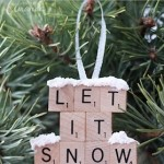 Homemade Christmas Ornaments Scrabble Tiles Decoratons from Crafts by Amanda