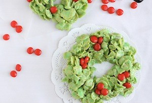 edible homemade christmas decorations for kids to make cornflake wreaths from bonnibella