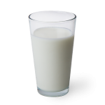 glass of warm milk