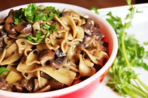 Alternative christmas meal ideas mushroom stroganoff