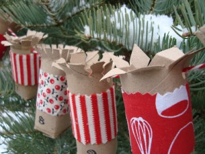 toilet roll advent calendar garland