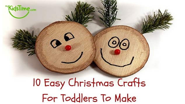 10 Easy Christmas Crafts for Toddlers to Make - First Day Of School Hairstyles