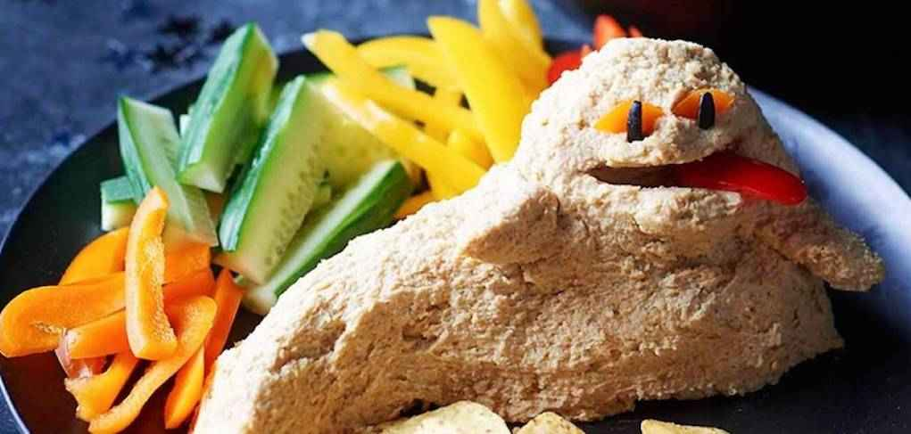 Jabba the hummus for star wars party food