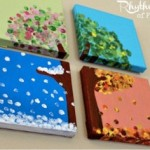 Art projects for toddlers fingerprint canvas from Rhytms of Play