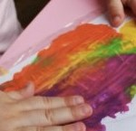 Art Projects for Toddlers Finger Painting from Learning and Exploring Through Play