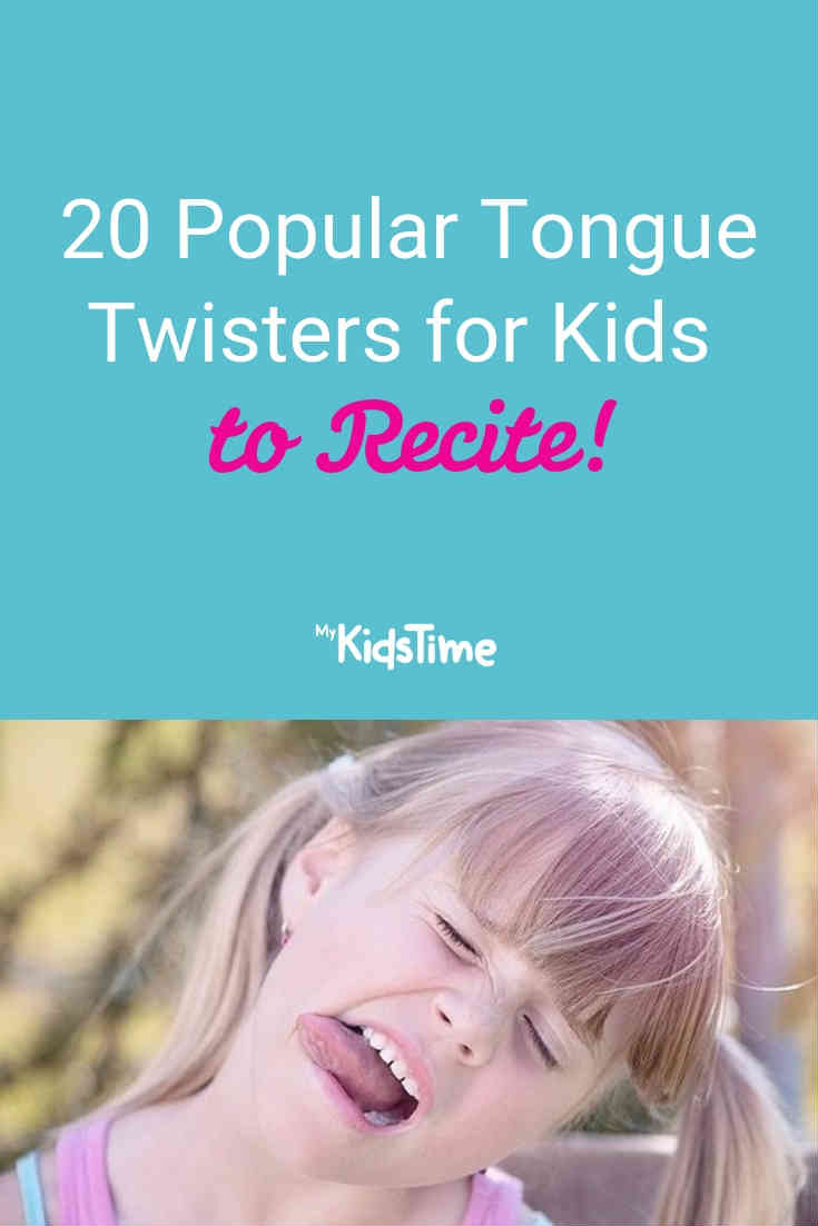 20 Popular Tongue Twisters for Kids to Recite - Mykidstime