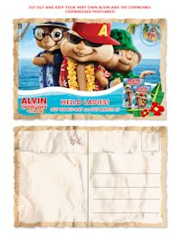 Alvin postcard invitation