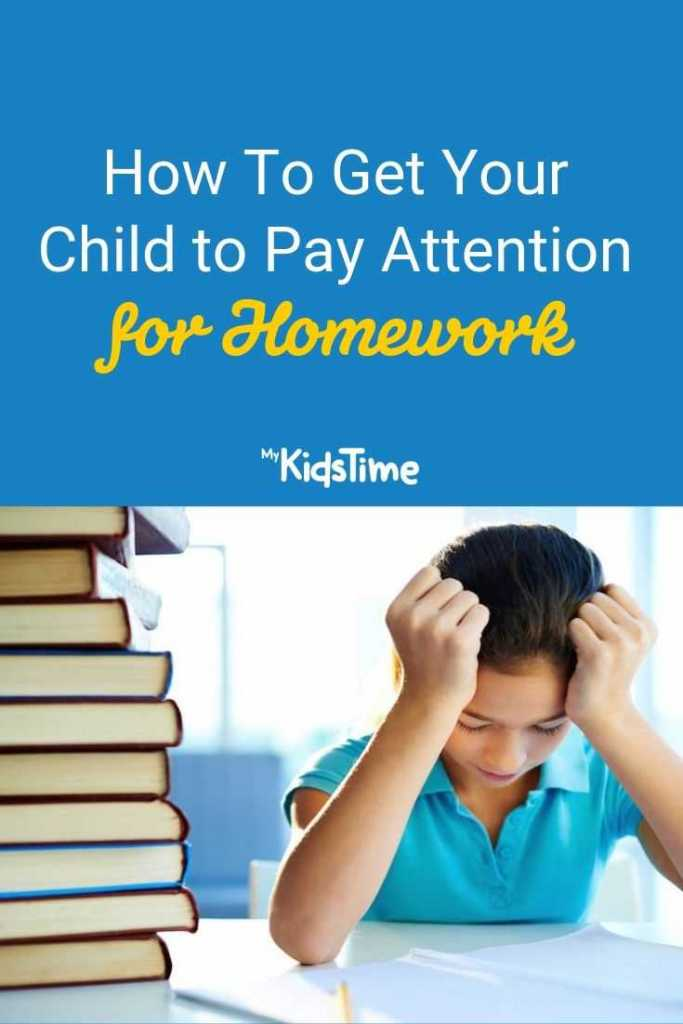 How To Get Your Child to Pay Attention for Homework