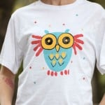 Spring Crafts for Kids Fabric Print Shirt from I Love to Create