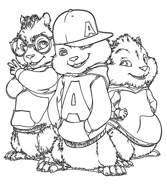 alvin colouring pages