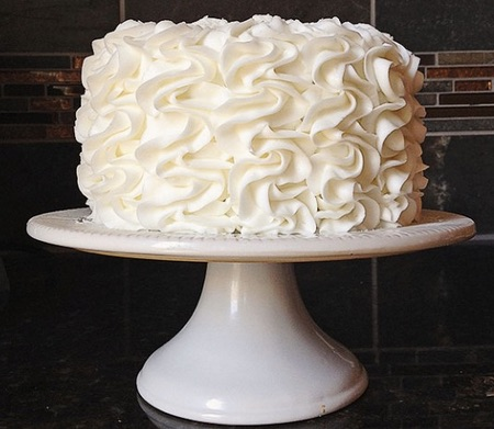 Frilled Homemade communion cake