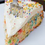 Homemade Funfetti Communion Cake
