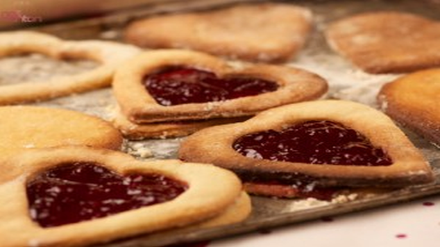 valentine cookie recipes jam tart hearts