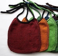 knitting bib or bag from ravelry