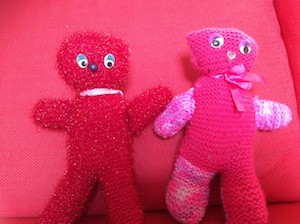 Knitting Teddies