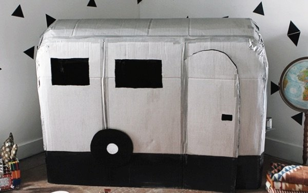 Spring Crafts for Kids Cardboard Caravan from The Merry Thought