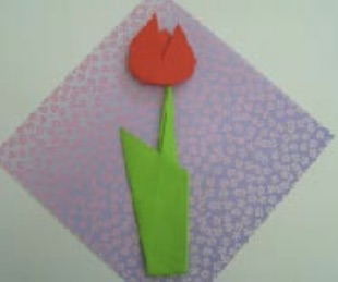 Spring Crafts for Kids Origami Tulip from Activity Village