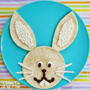 Easter-Bunny-Quesadilla-Dinner
