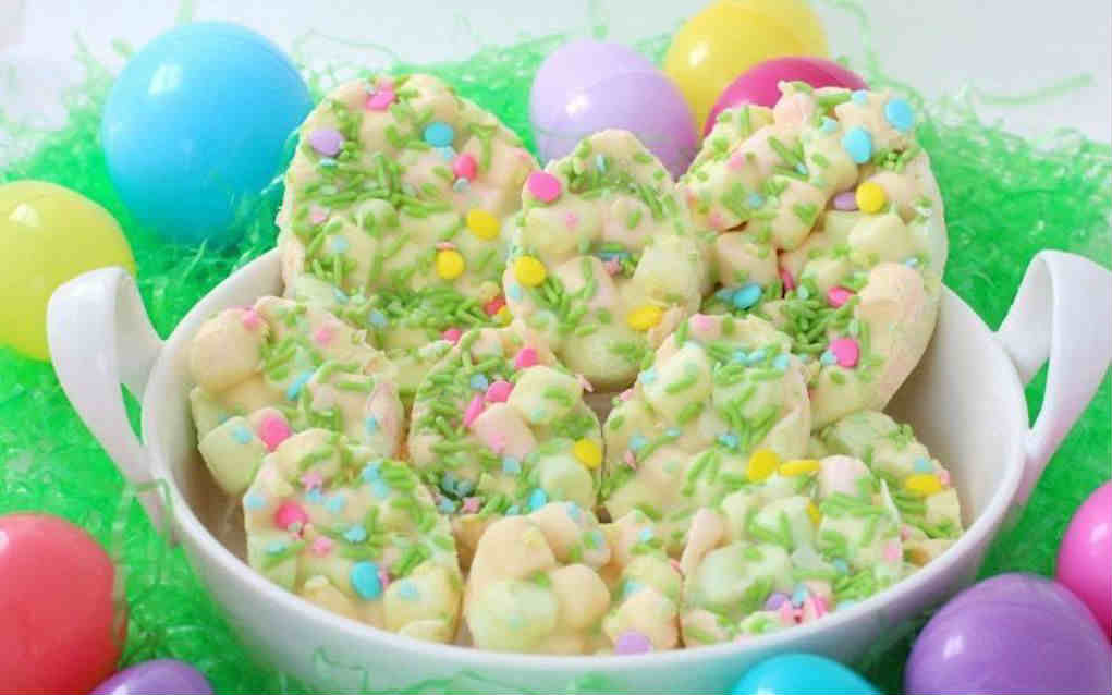 Easter Marshmallow Bark for Easter Cookies - Mykidstime