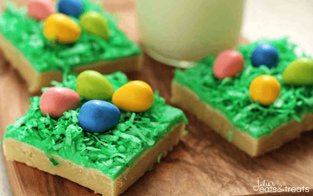 Egg hunt bars for Easter cookies - Mykidstime