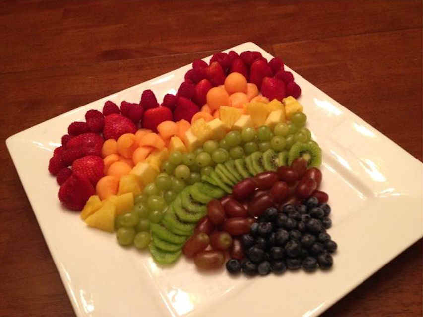 Fruit heart plate