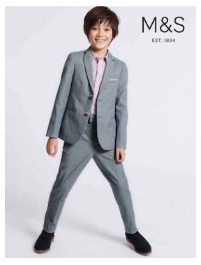 M&S communion suit with logo 2019