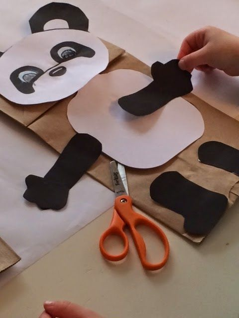 ... paper, crayons, and glue. There are panda templates available online