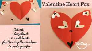 valentines crafts for kids heart fox