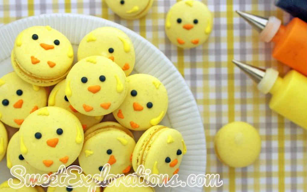 Chick macaroons for Easter cookies - Mykidstime