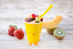 easterfruit and veggie cups
