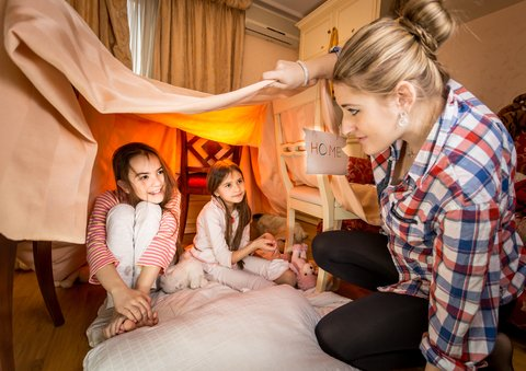 home made den for quality time with your child