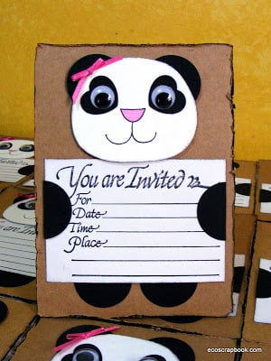 panda bear invitation