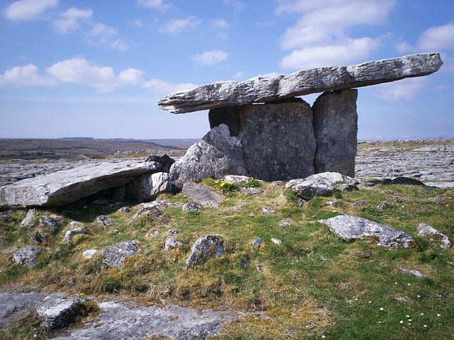 dolmen-burren ireland places for nature education for kids in Ireland
