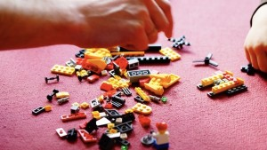 Tidy the playroom lego pieces