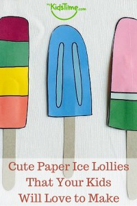 Cute Paper Ice Lollies That Your Kids Will Love to Make