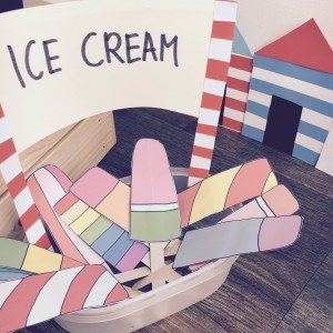 Making Paper Ice Lollies
