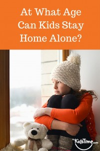 at what age can your child stay home alone
