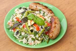 sausage and couscous