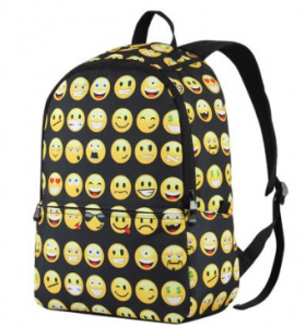 Emoji school bags and backpacks