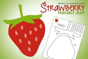 strawberry printable