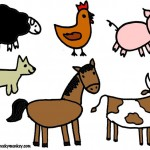 Farm animals.Back.C