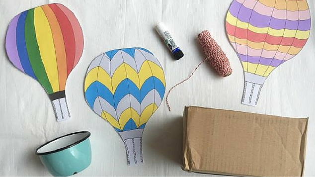 Up Up And Away With This Fun Hot Air Balloon Craft
