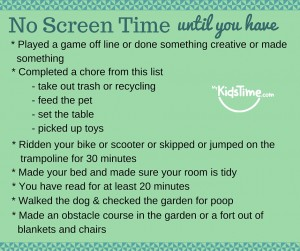 No screen time rules